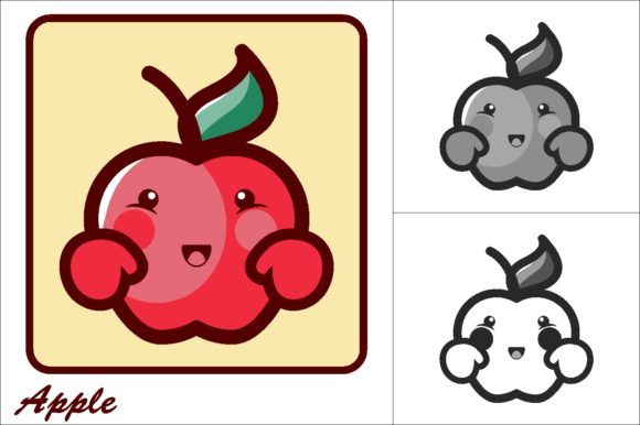 Print on Demand: Aple Vector Illustration Icon Graphic Icons By novieart 99