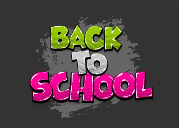 Back to School Comic Text Pop Art Graphic Illustrations By Kapitosh