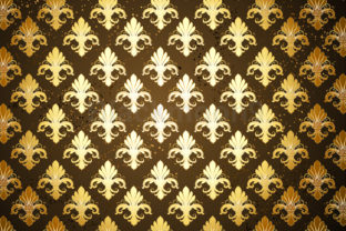 Background with Gold Fleur De Lis Graphic Illustrations By Blackmoon9