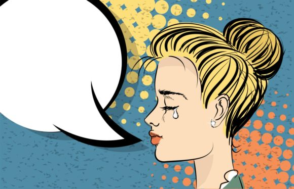 Beautiful Blonde Girl Style Pop Art Cry Graphic Illustrations By Kapitosh