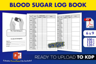 Print on Demand: Blood Sugar Logbook Diabetes Tracker KDP Graphic KDP Interiors By Beast Designer