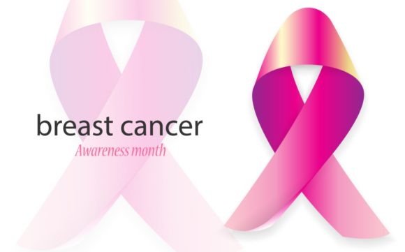 Breast Cancer Woman Pink Satin Ribbon Graphic Illustrations By Kapitosh