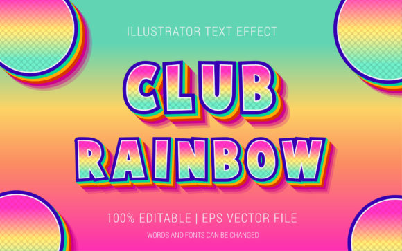 Club Rainbow Text Effect Style Graphic Layer Styles By Neyansterdam17
