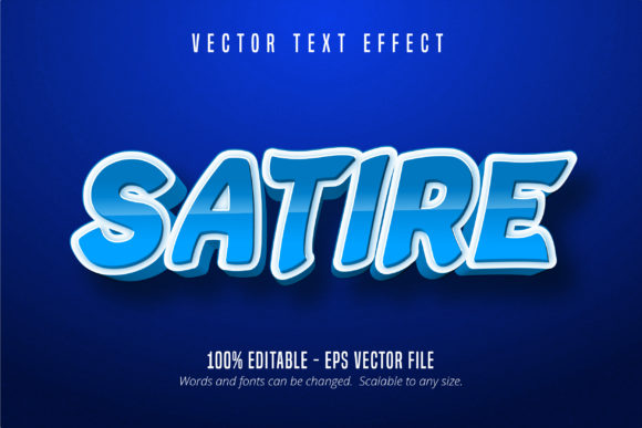 Print on Demand: Cartoon Style Editable Text Effect Graphic Graphic Templates By Mustafa Bekşen