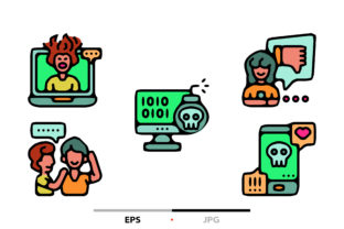 Cyberbullying Abstract Graphic Icons By sayangnadyapkm3