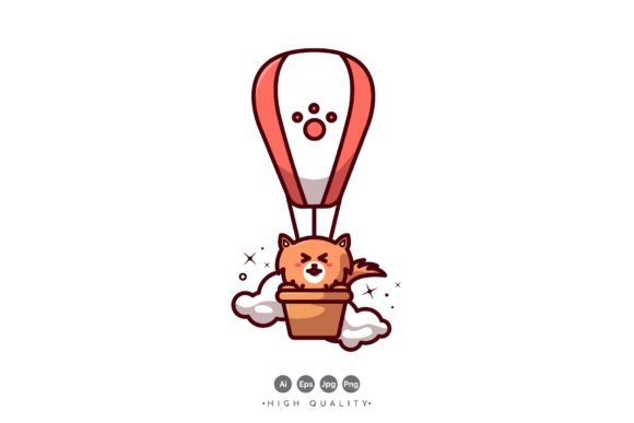 Download Free Doggy In Balloon Vector Graphic By Vectormood Creative Fabrica for Cricut Explore, Silhouette and other cutting machines.