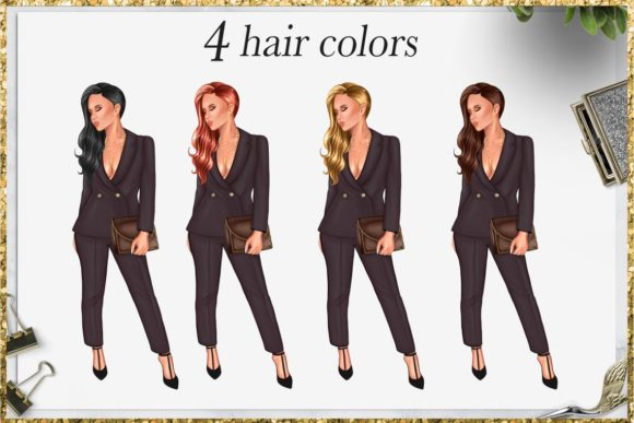 Print on Demand: Fashion Girlboss Clipart Set Graphic Illustrations By TheGGShop - Image 3