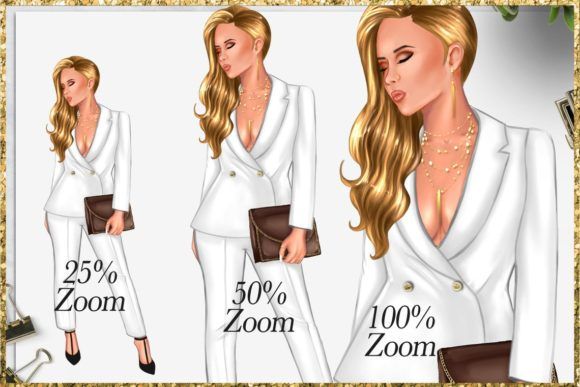 Print on Demand: Fashion Girlboss Clipart Set Graphic Illustrations By TheGGShop - Image 5