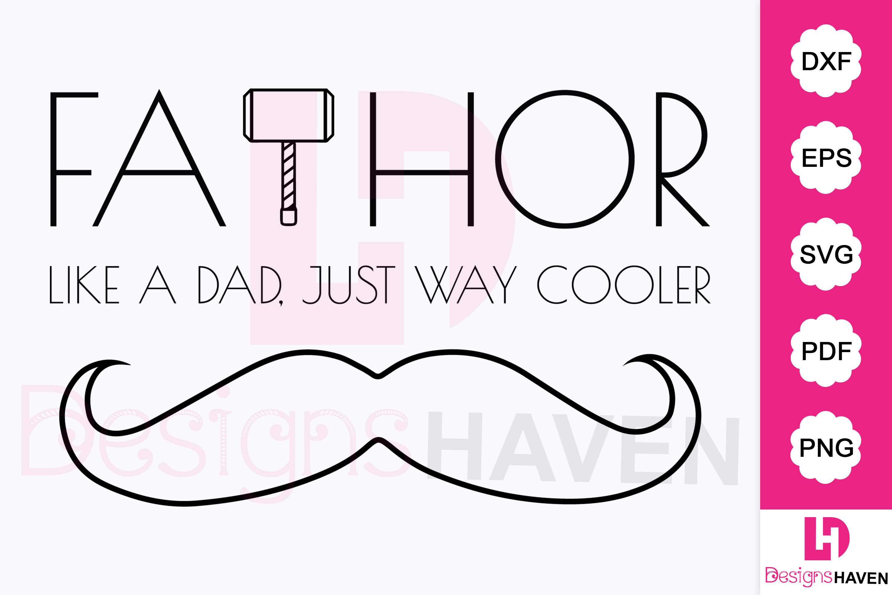 Download Free Fathor Father S Day Silhouette Graphic By Designshavenllc for Cricut Explore, Silhouette and other cutting machines.