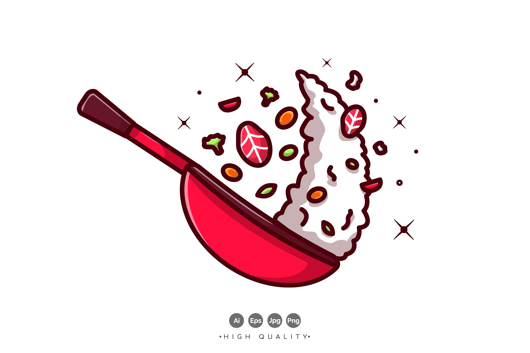 Download Free Fried Rice Vector Graphic By Vectormood Creative Fabrica for Cricut Explore, Silhouette and other cutting machines.