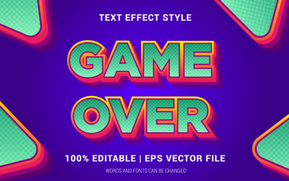 Download Free Game Over Text Effect Style Graphic By Neyansterdam17 Creative for Cricut Explore, Silhouette and other cutting machines.