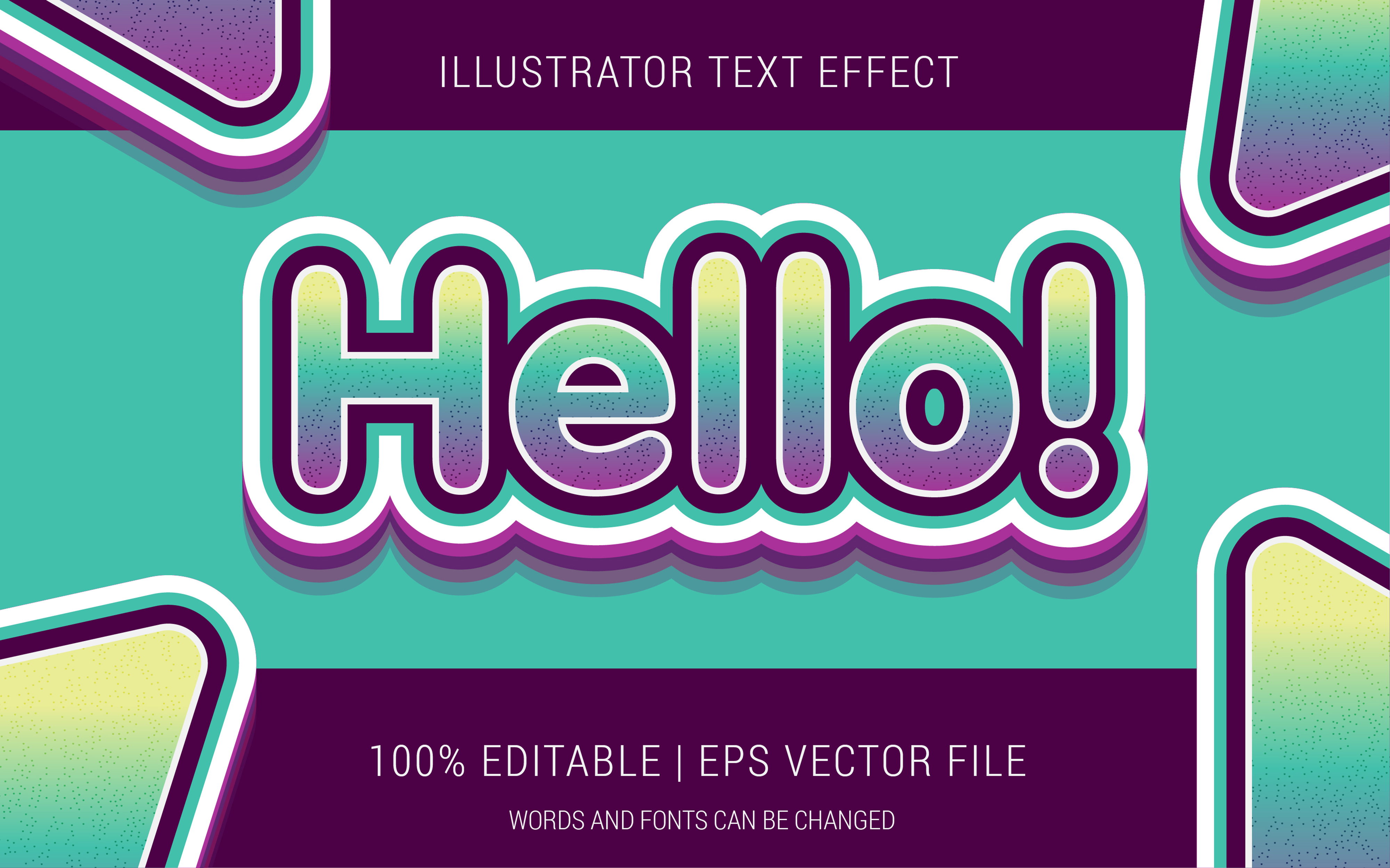 Download Free Hello Text Effect Style Graphic By Neyansterdam17 Creative Fabrica SVG Cut Files