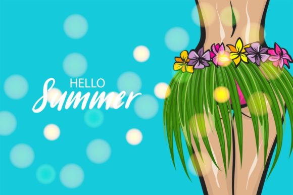 Download Free Hawaii Woman Pop Art Style Summer Retro Graphic By Kapitosh SVG Cut Files