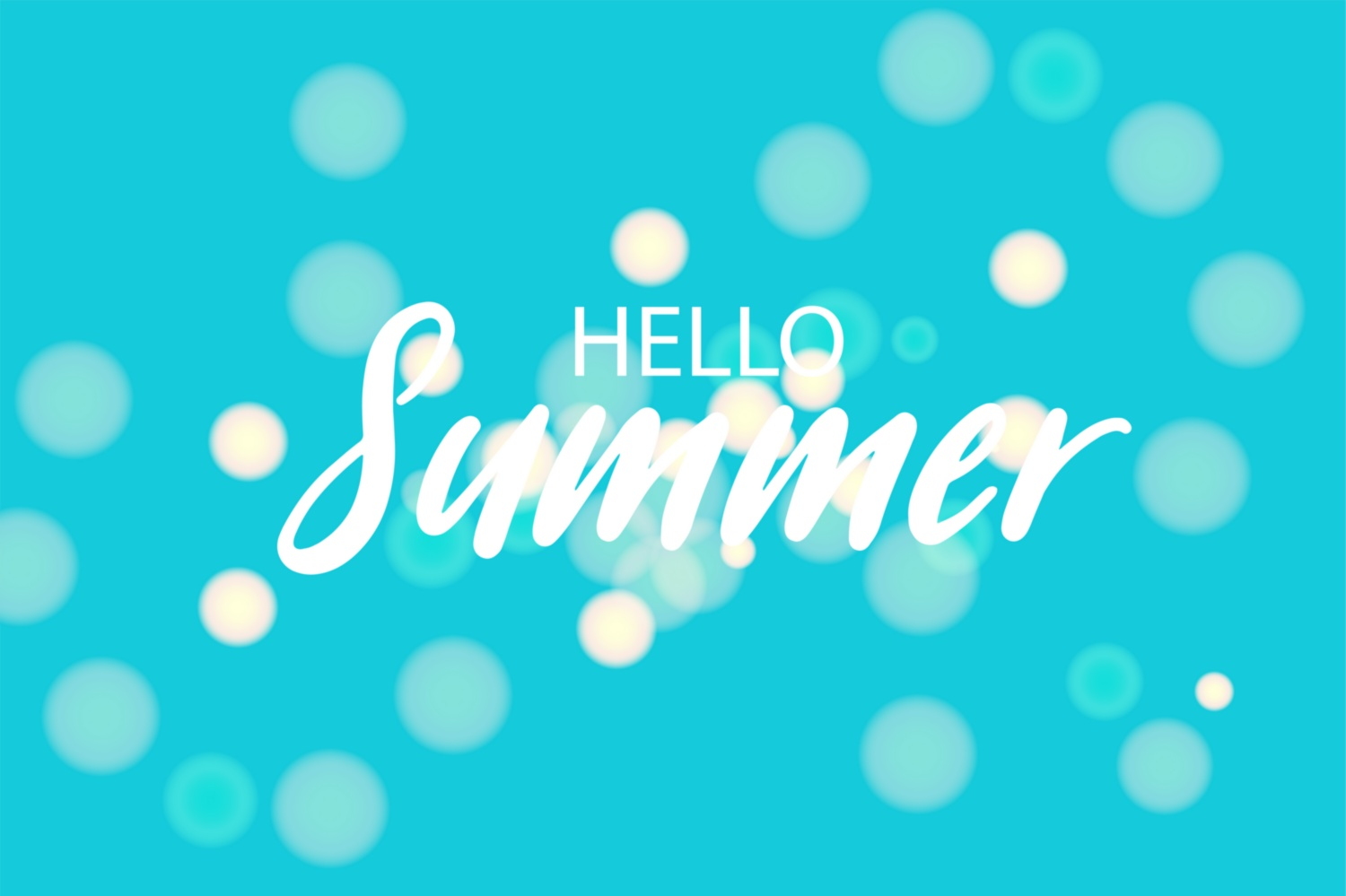 Download Free Hello Summer Blue Bokeh Background Graphic By Kapitosh for Cricut Explore, Silhouette and other cutting machines.