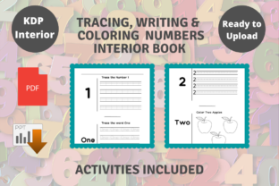 Print on Demand: KDP Tracing, Writing & Coloring Numbers Graphic KDP Interiors By Proobeyda