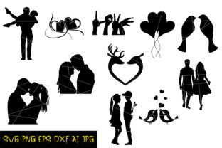 Love Silhouettes Graphic Crafts By denysdigitalshop