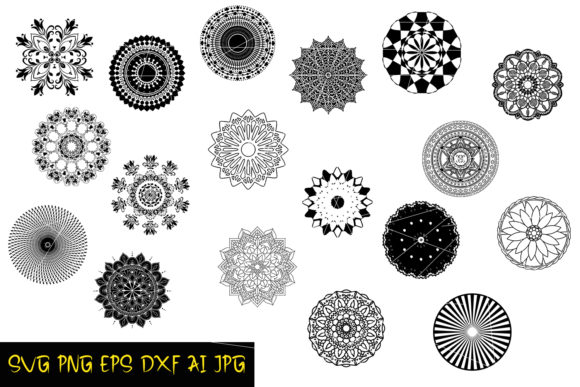Download Free Mandala Silhouettes Graphic By Denysdigitalshop Creative Fabrica SVG Cut Files