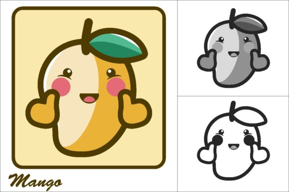 Download Free Mango Vector Illustration Icon Graphic By Novieart 99 Creative for Cricut Explore, Silhouette and other cutting machines.