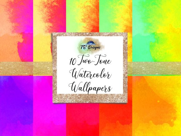 Download Free Neon Vibrant Two Tone Wallpaper Graphic By Te Designs Creative for Cricut Explore, Silhouette and other cutting machines.