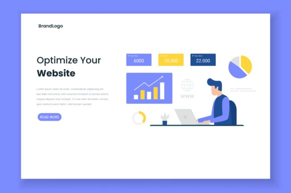 Optimize Site Illustration Landing Page Graphic Illustrations By HengkiL