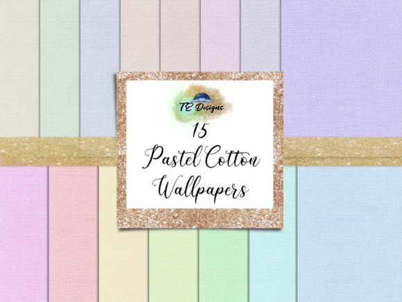Download Free Pastel Cotton Digital Papers Graphic By Te Designs Creative for Cricut Explore, Silhouette and other cutting machines.