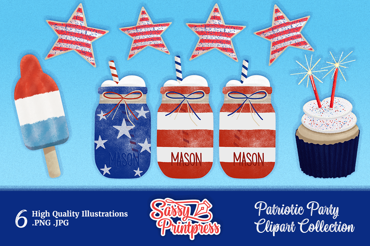 Download Free Patriotic Party Clipart Collection Graphic By Sassy Printpress for Cricut Explore, Silhouette and other cutting machines.