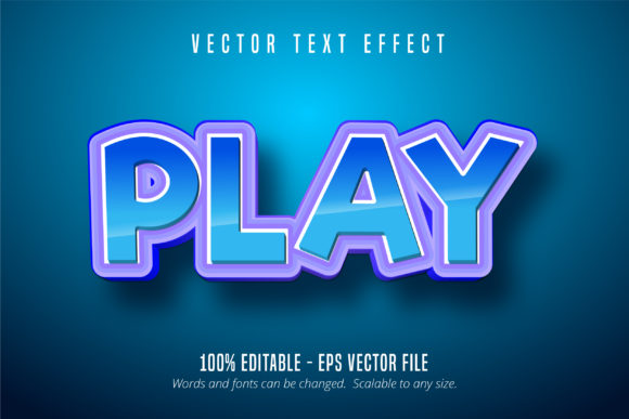 Print on Demand: Play Text Effect, Editable Font Style Graphic Graphic Templates By Mustafa Bekşen