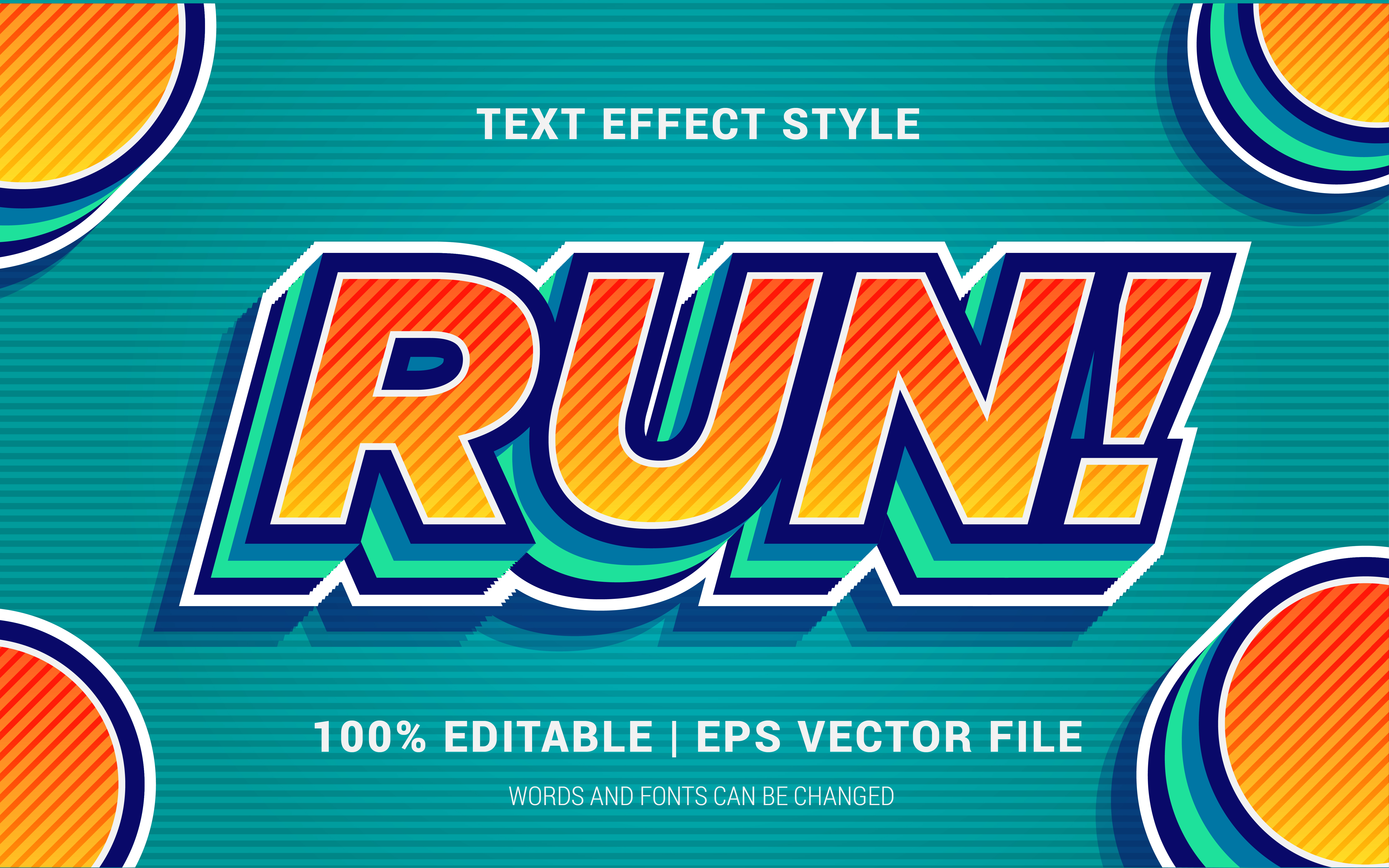 Download Free Run Text Effects Style Graphic By Neyansterdam17 Creative Fabrica for Cricut Explore, Silhouette and other cutting machines.
