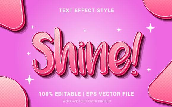 Download Free Shine Text Effect Style Graphic By Neyansterdam17 Creative Fabrica for Cricut Explore, Silhouette and other cutting machines.