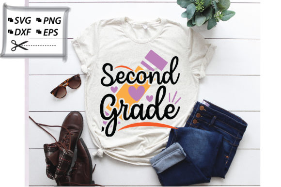 Download Free Second Grade Graphic By Svg Store Creative Fabrica for Cricut Explore, Silhouette and other cutting machines.