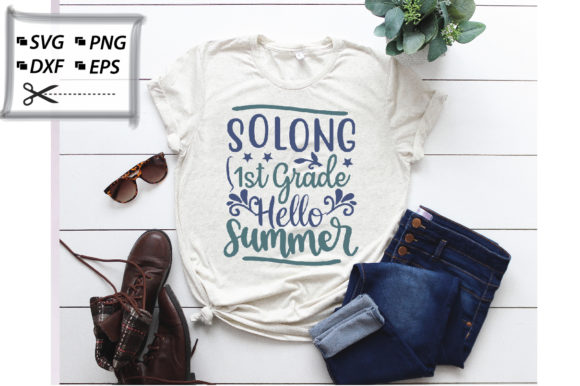 Download Free Solong 1st Grade Hello Summer Graphic By Svg Store Creative for Cricut Explore, Silhouette and other cutting machines.