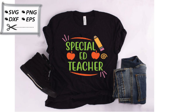 Download Free Special Ed Teacher Graphic Graphic By Svg Store Creative Fabrica for Cricut Explore, Silhouette and other cutting machines.