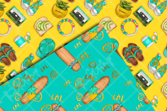 Print on Demand: Summer Beach Seamless Patterns Graphic Patterns By TheGGShop - Image 5