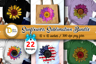 Sunflowers Sublimation Bundle   Grafik Plotterdateien von dina.store4art