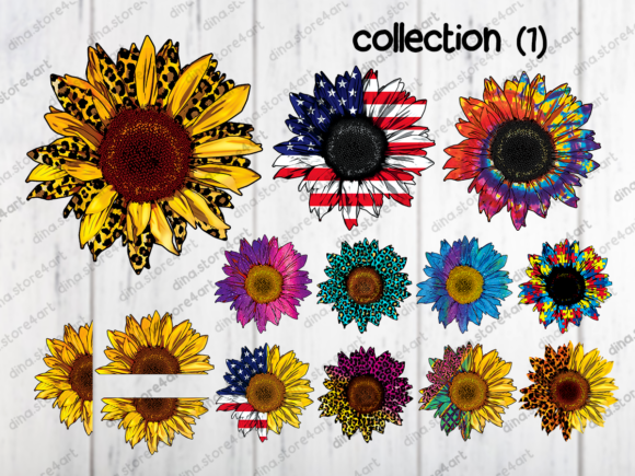 Print on Demand: Sunflowers Sublimation Bundle Graphic Crafts By dina.store4art - Image 2