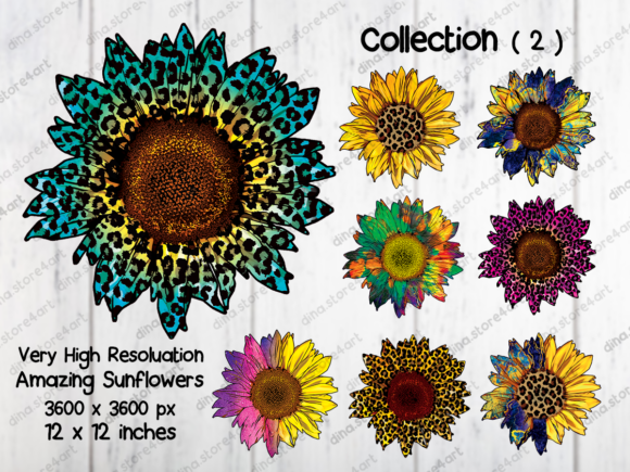 Print on Demand: Sunflowers Sublimation Bundle Graphic Crafts By dina.store4art - Image 3