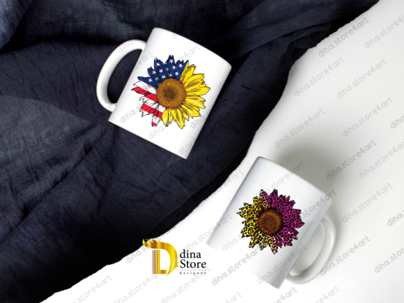 Print on Demand: Sunflowers Sublimation Bundle Graphic Crafts By dina.store4art - Image 5