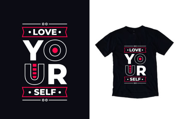 Download Free T Shirt Love Yourself Quotes Graphic By Yazriltri Creative Fabrica for Cricut Explore, Silhouette and other cutting machines.