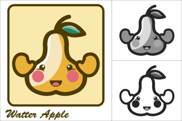 Download Free Water Apple Vector Illustration Icon Graphic By Novieart 99 for Cricut Explore, Silhouette and other cutting machines.