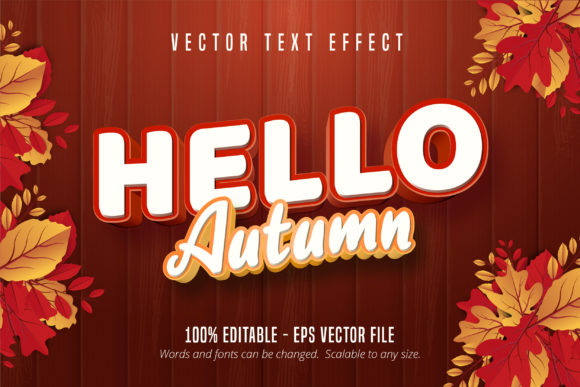 Print on Demand: Autumn Style Editable Text Effect Graphic Graphic Templates By Mustafa Bekşen
