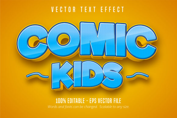Print on Demand: Comic Style Editable Text Effect Graphic Graphic Templates By Mustafa Bekşen