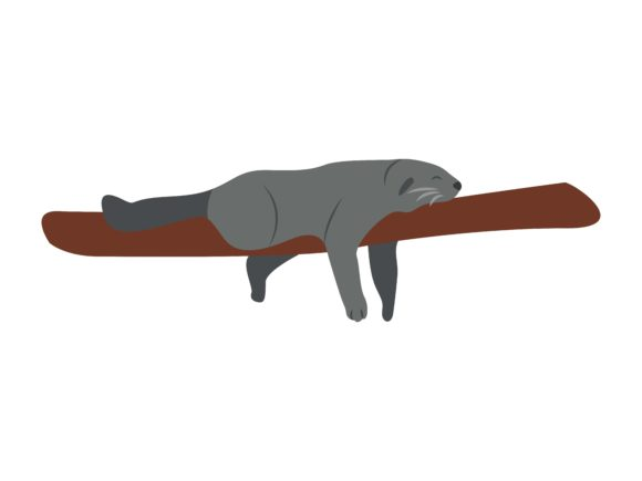 Download Free Lazy Weasel Animal Graphic By Archshape Creative Fabrica for Cricut Explore, Silhouette and other cutting machines.