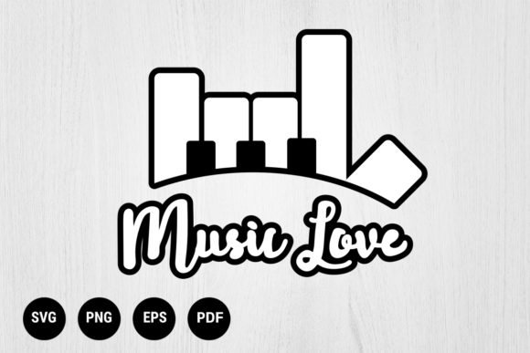 Download Free Piano And Hand Love Music Symbol Graphic By 99 Siam Vector for Cricut Explore, Silhouette and other cutting machines.