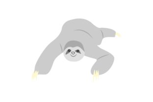Sloth Get Down Animal Graphic By Archshape Creative Fabrica