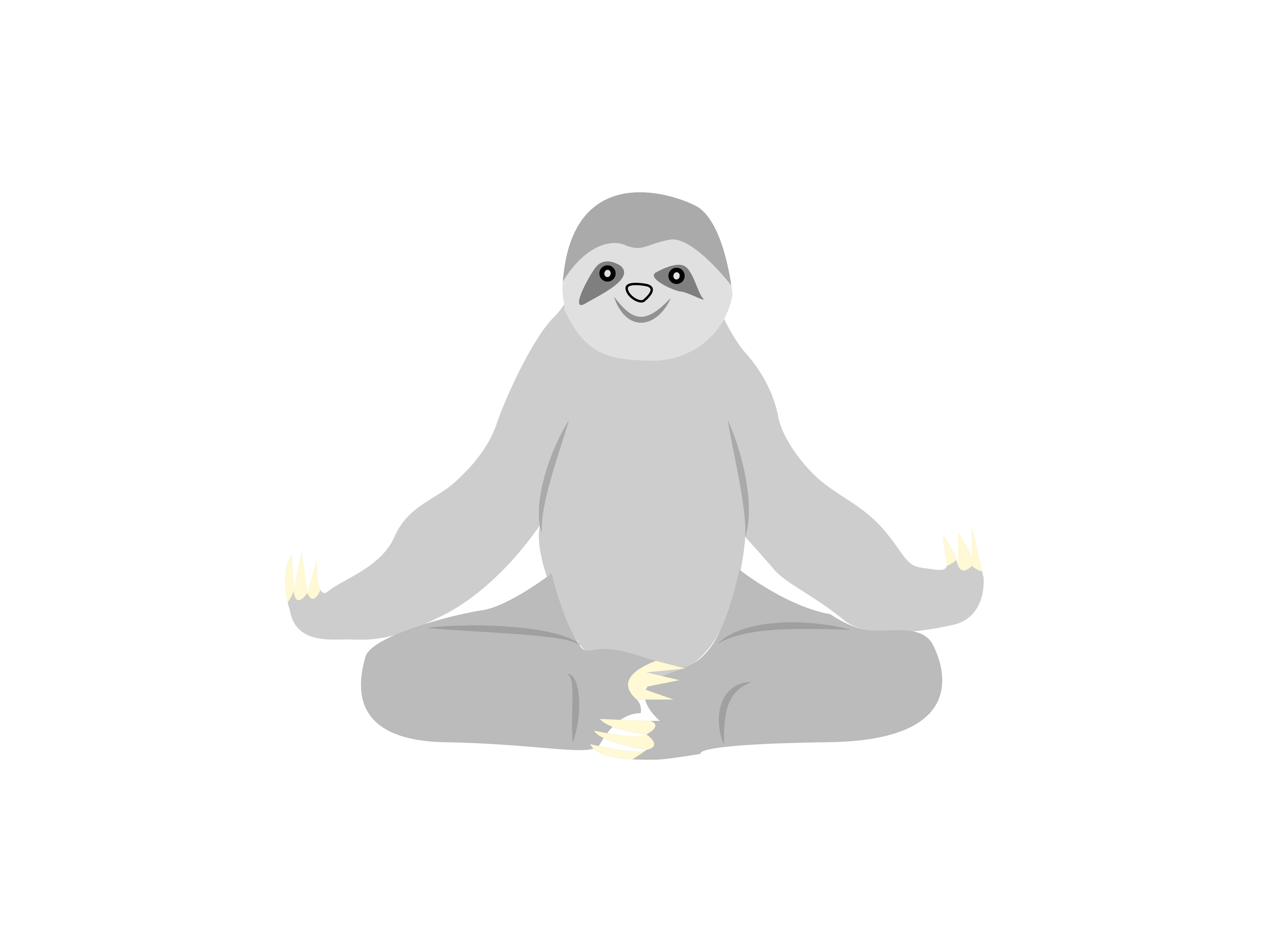 Download Free Sloth Sitting Animal Graphic By Archshape Creative Fabrica for Cricut Explore, Silhouette and other cutting machines.