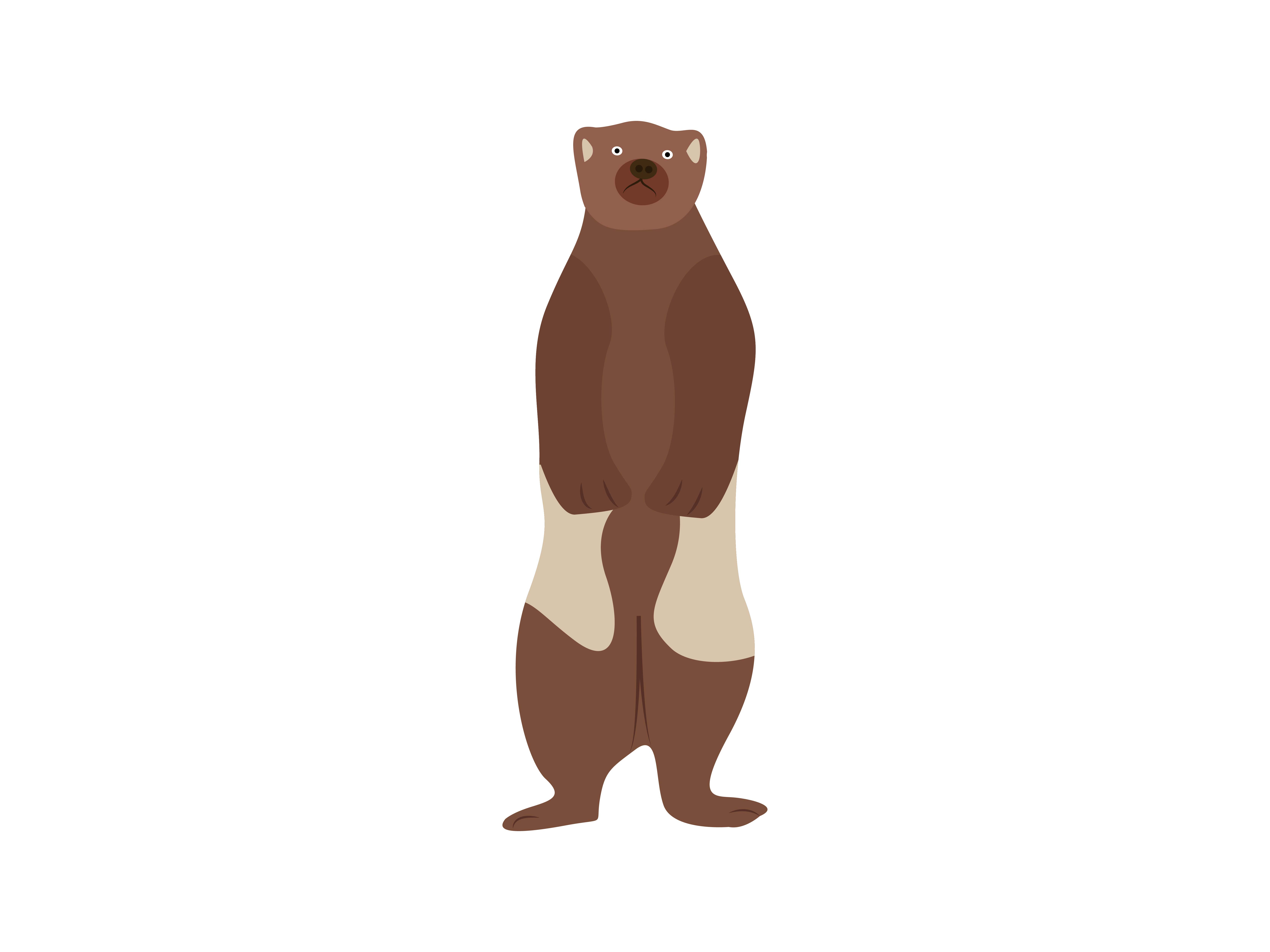 Download Free Wolfrine Standing Animal Graphic By Archshape Creative Fabrica for Cricut Explore, Silhouette and other cutting machines.