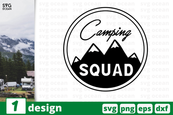 Download Free Camping Squad Graphic By Svgocean Creative Fabrica SVG Cut Files