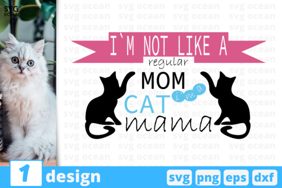 Download Free Cat Mama Graphic By Svgocean Creative Fabrica for Cricut Explore, Silhouette and other cutting machines.