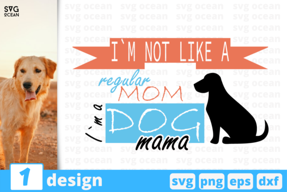 Download Free 1 Dog Mama Pets Quotes Cricut Svg Graphic By Svgocean for Cricut Explore, Silhouette and other cutting machines.