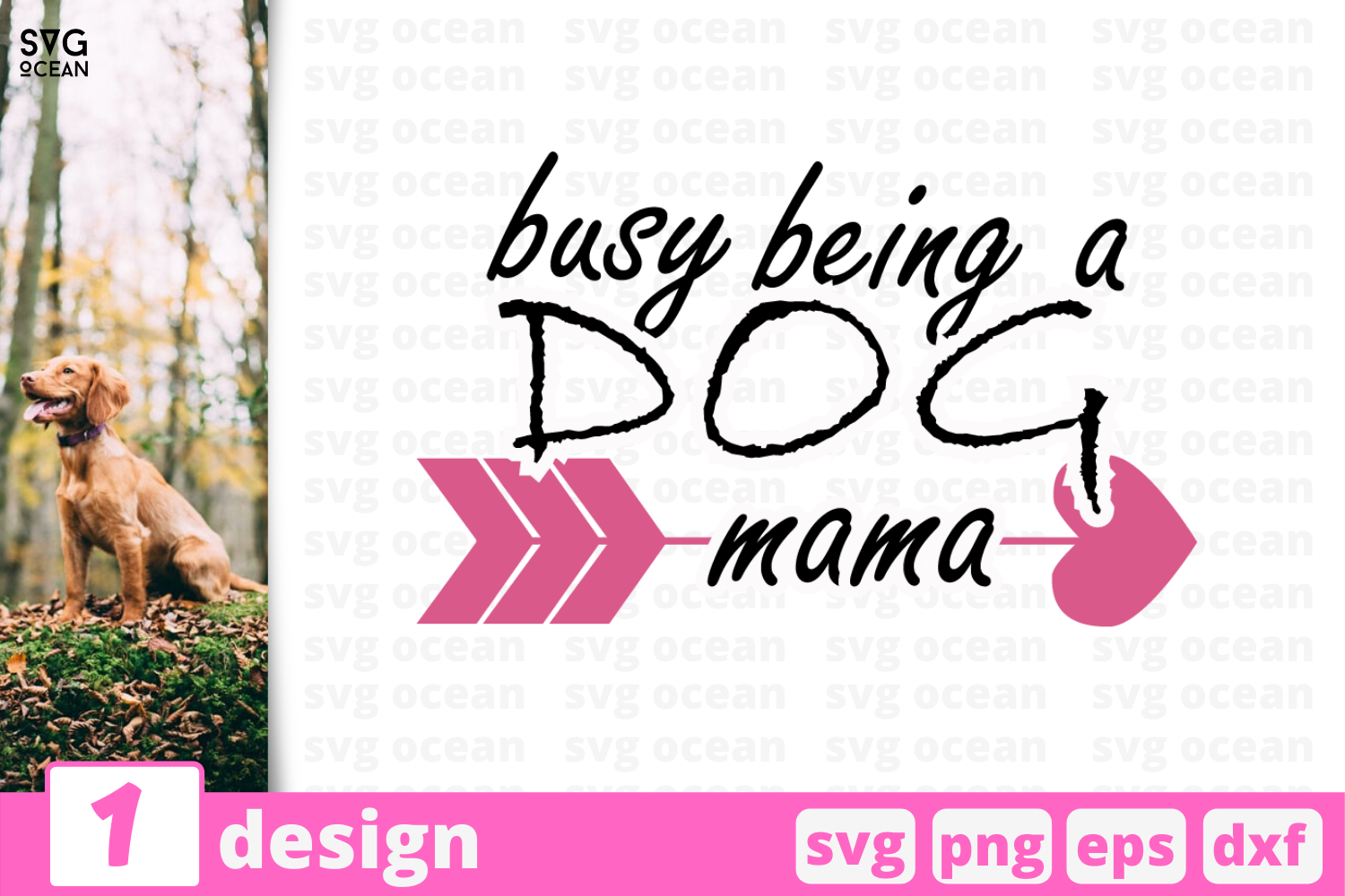 Download Free Dog Mama Graphic By Svgocean Creative Fabrica for Cricut Explore, Silhouette and other cutting machines.